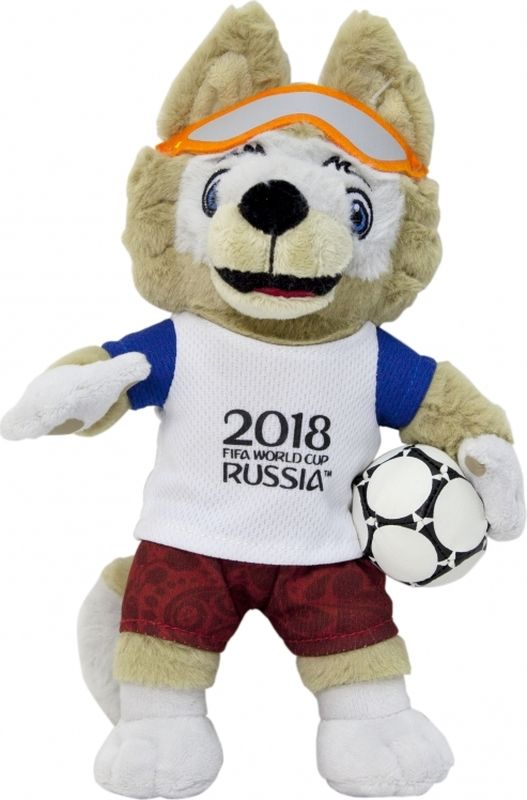 цена на FIFA-2018 Мягкая игрушка Волк Забивака 28 см