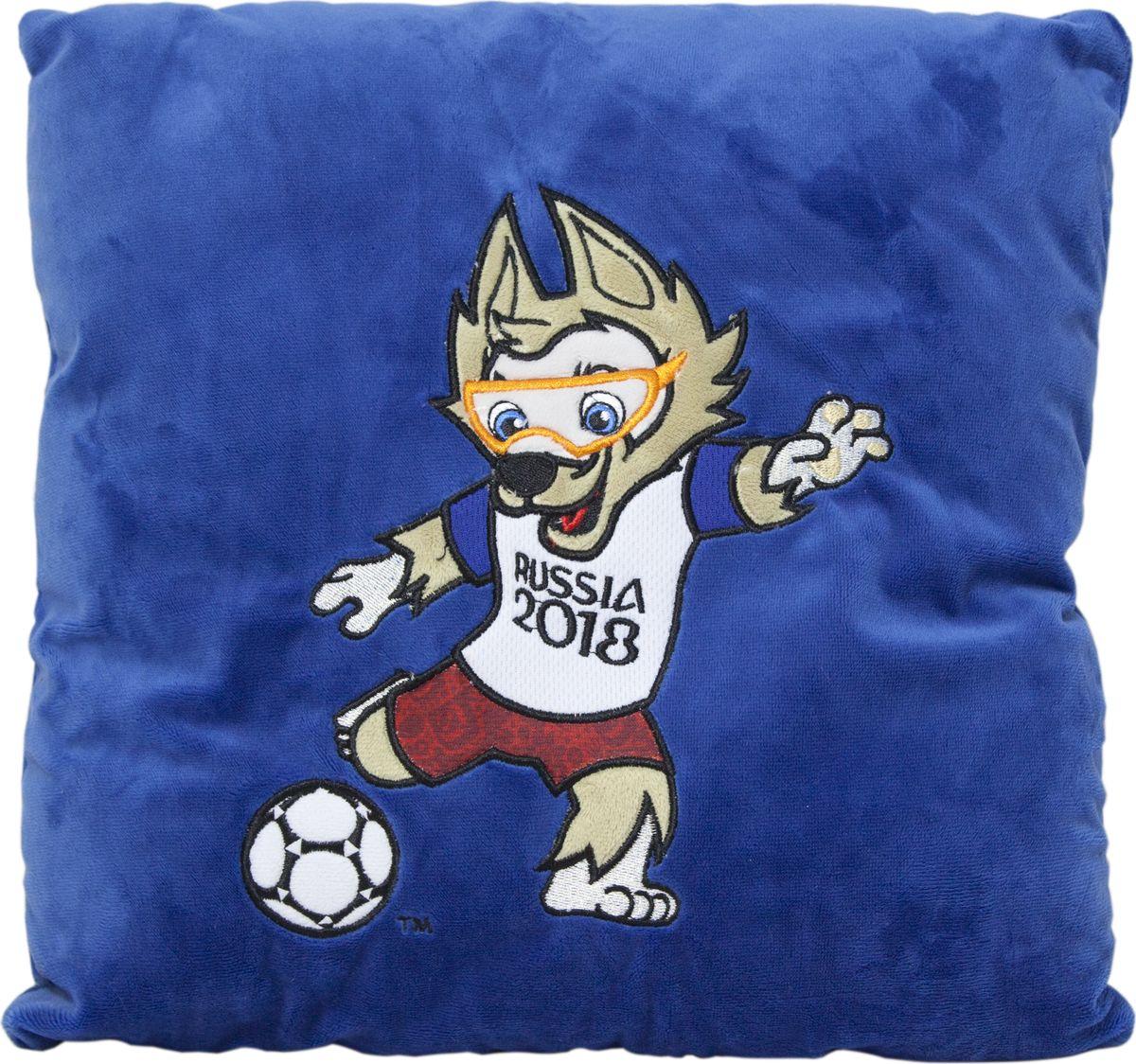 FIFA-2018 Мягкая игрушка-подушка Забивака KickingТ11005Подушка с волком Забивака — официальным талисманом чемпионата мира по футболу 2018 года, который пройдёт в России