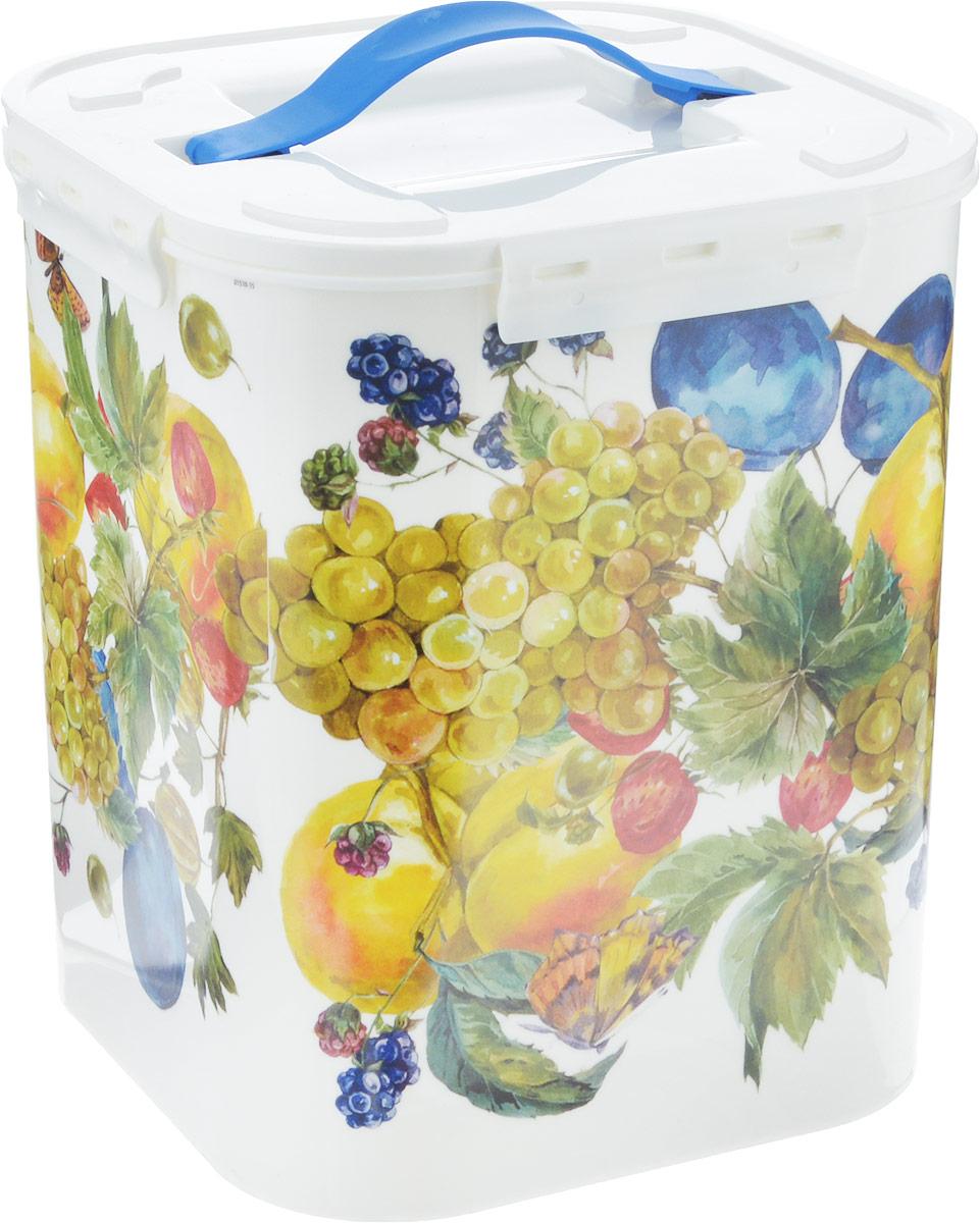 Контейнер для хранения Idea Фрукты, цвет: белый, 10 л контейнер для хранения idea океаник цвет голубой 20 л