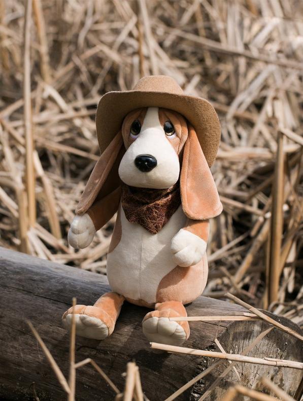 Orange Мягкая игрушка Бассет Билли 25 см купить щенкак в донецке бассет