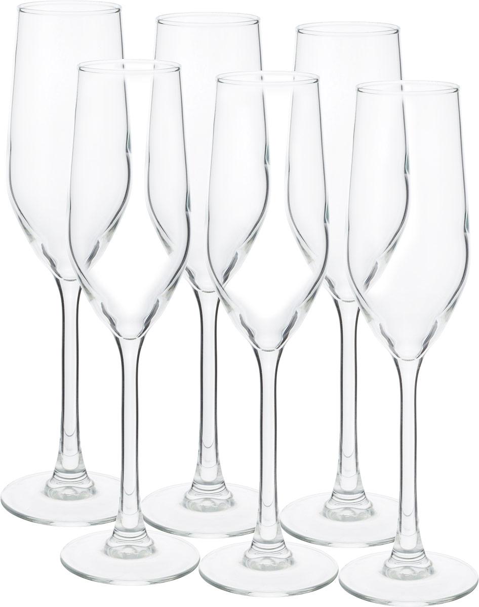 Набор фужеров для шампанского Luminarc Селест, 160 мл, 6 шт44238BВысокие и узкие бокалы формой напоминают тюльпан. Такие бокалы оптимальны для игристых вин - узкое горлышко не позволяет быстро испариться пузырькам газа.Набор бокалов Luminarc Селест для шампанского подойдет для ежедневного использования, сервировки праздничного стола, а также для использования в барах и ресторанах. Можно мыть в посудомоечной машине.