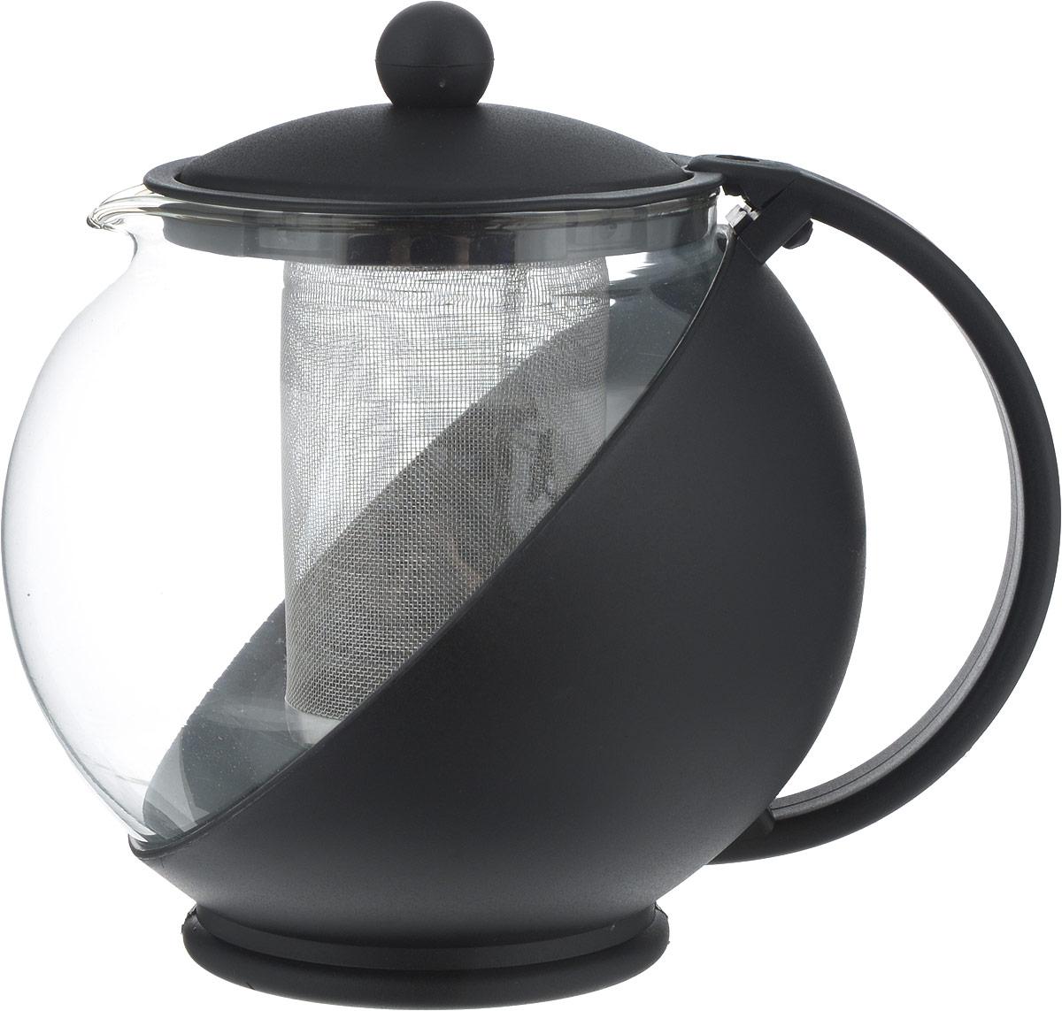 """Чайник заварочный изготовлен из термостойкого ненагревающегося пластика и ударостойкого жаропрочного стекла. Съемный фильтр-ситечко из высококачественной хромо-никелевой нержавеющей стали с мелкими ячейками для чая разных сортов и разной степени измельчения рассчитан на оптимальное количество заварки при разных объемах чайников.  Аккуратный """"птичий"""" носик, из которого чай течет непосредственно в чашку, а не по выпуклому """"брюшку"""" чайника. Устойчивое основание.  Небольшой вес."""