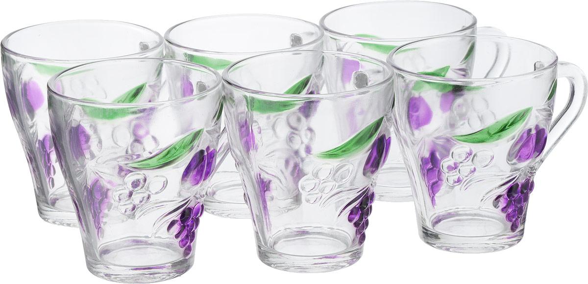 Набор кружек Super Kristal, цвет: прозрачный, фиолетовый, 150 мл, 6 шт2998Набор Super Kristal, выполненный из прочного натрий-кальций-силикатного стекла с оригинальным фруктовым принтом, состоит из шести кружек с удобными ручками.Набор стаканов Super Kristal станет отличным подарком на любой праздник. Не рекомендуется мыть в посудомоечной машине.Диаметр по верхнему краю: 7 см.Высота кружки: 11,5 см.Объем:150 мл.