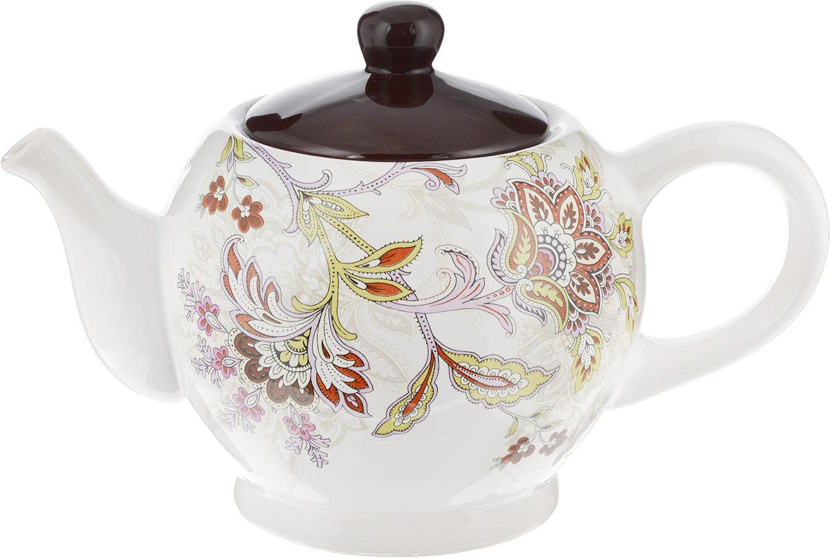 Чайник заварочный Loraine, 930 мл. 2484924949Заварочный чайник Loraine изготовлен из высококачественного доломита с глазурованнымпокрытием и оформлен оригинальным рисунком. Гладкая и идеально ровная поверхностьобеспечивает легкую очистку.Чайник поможет заварить крепкий ароматный чай ивеликолепно украсит стол к чаепитию.Можно использовать в микроволновой печи и мыть в посудомоечной машине.