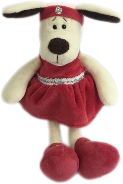 Teddy Мягкая игрушка Собака в платье с повязкой 16 см малышарики мягкая игрушка собака бассет хаунд 23 см