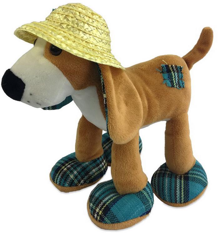 Teddy Мягкая игрушка Собака в соломенной шляпе 23 см teddy мягкая игрушка собака в голубом пиджаке 18 см