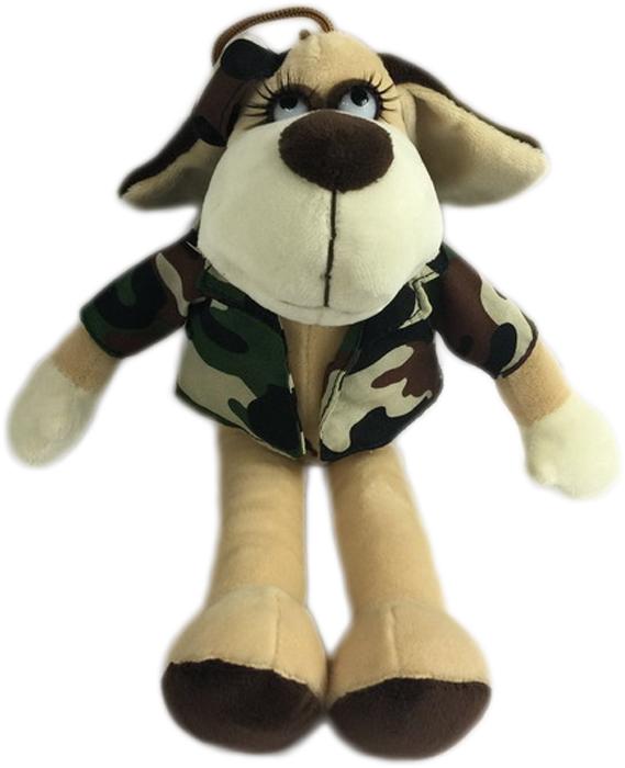 Teddy Мягкая игрушка Собака в камуфляжном костюме 18 см малышарики мягкая игрушка собака бассет хаунд 23 см