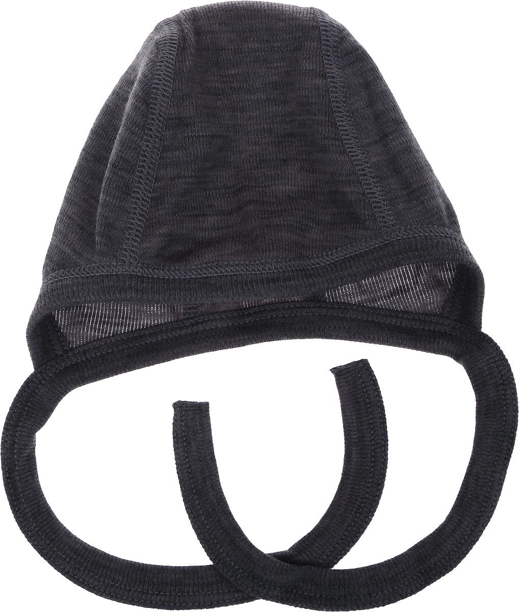 Чепчик для новорожденного Dr. Wool, цвет: серый меланж. DWKL 310. Размер 35/40