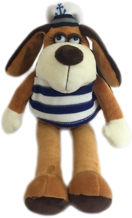 Teddy Мягкая игрушка Собака в тельняшке 15 см teddy мягкая игрушка собака в голубом пиджаке 18 см