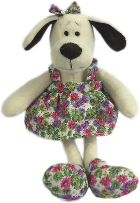 Teddy Мягкая игрушка Собака в платье с цветами 16 см