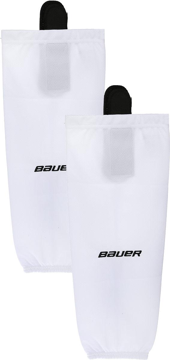 Хоккейные гамаши Bauer 600 Hockey Sock, цвет: белый. 1047740. Размер S/M1047740Хоккейные гамаши BAUER - отличного стиля и качества, сделаны из полиэстера повышенной прочности.Имеют липучки для крепления и эластичный крой в колене и голеностопе для свободы движения. Превосходно смотрятся с тренировочными майками BAUER.