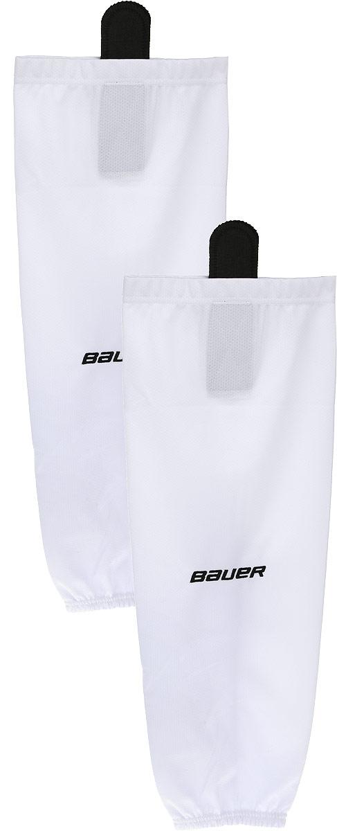 Хоккейные гамаши Bauer 600 Hockey Sock, цвет: белый. 1047740. Размер L/XL1047740Хоккейные гамаши BAUER - отличного стиля и качества, сделаны из полиэстера повышенной прочности.Имеют липучки для крепления и эластичный крой в колене и голеностопе для свободы движения. Превосходно смотрятся с тренировочными майками BAUER.