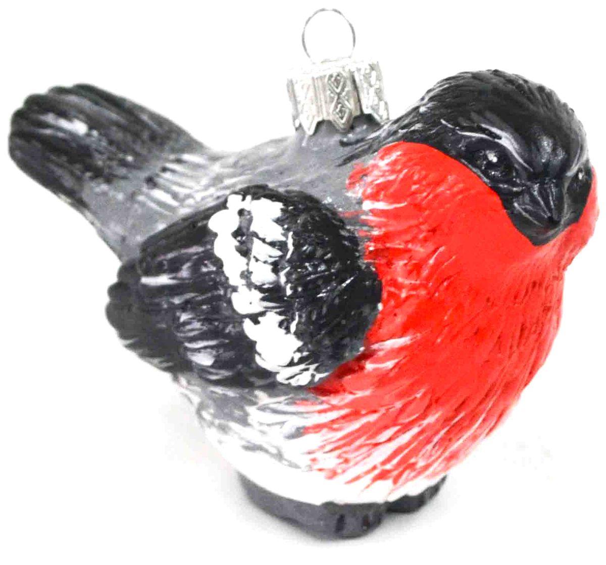 Украшение новогоднее подвесное Снегирь, цвет: красный, черный, 9,5 х 5 х 7,7 смЕГ-7
