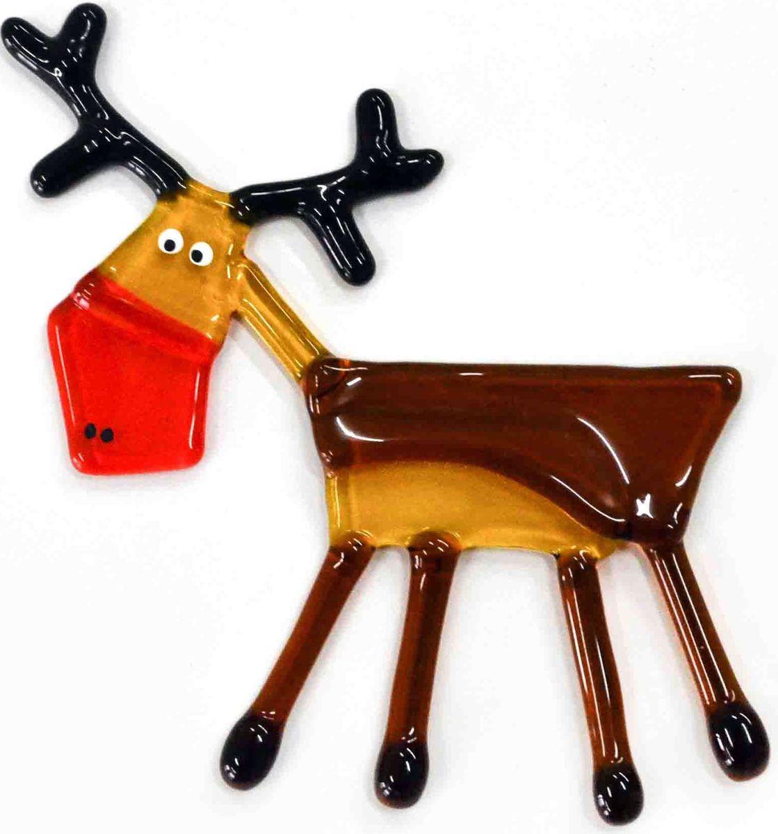 Украшение новогоднее подвесное Олень, 11 х 8 х 0,3 смЕС-4Елочная игрушка - символ приближающегося праздника. Она послужит прекрасным подарком как для ребенка, так и для взрослого, а также дополнит новогодний интерьер. Веселый олень будет отлично смотреться на праздничной елке.