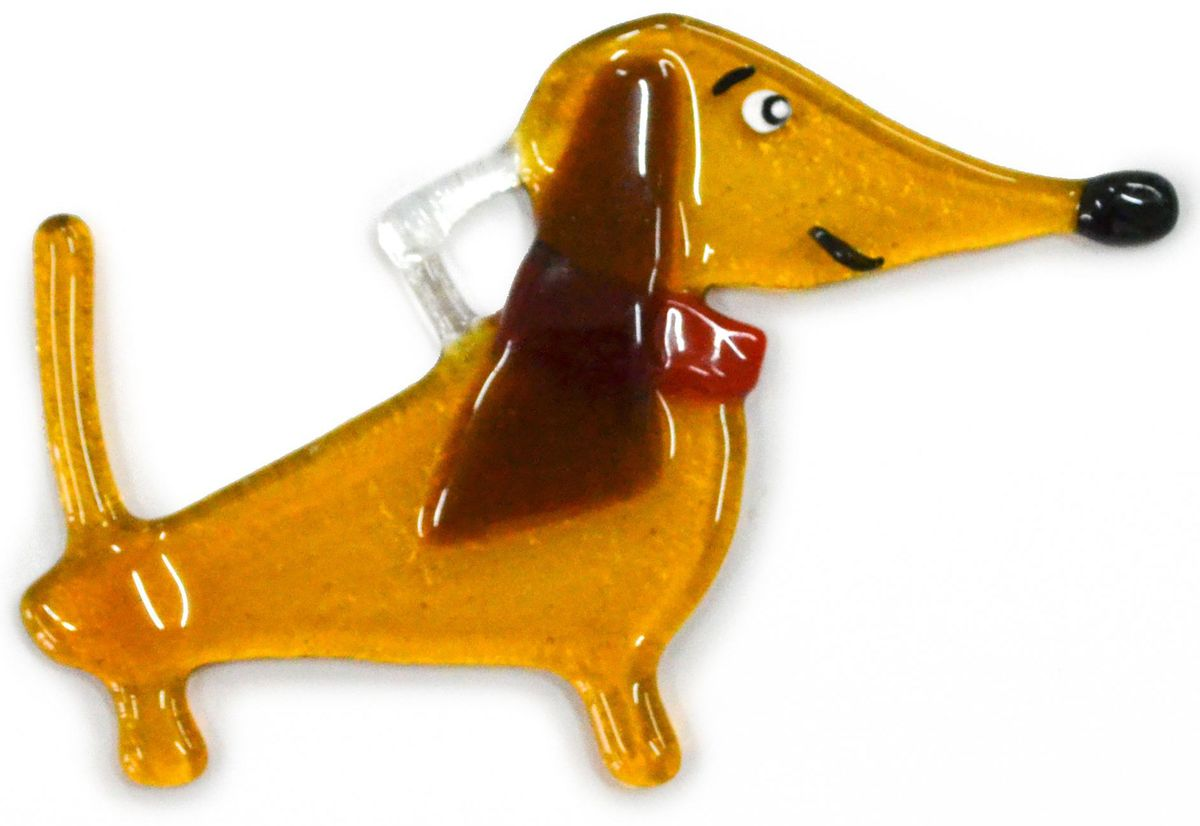 Украшение новогоднее подвесное Такса, 10 х 7 х 0,3 смЕС-48Елочная игрушка - символ приближающегося праздника. Она послужит прекрасным подарком как для ребенка, так и для взрослого, а также дополнит новогодний интерьер. Веселая такса будет отлично смотреться на праздничной елке.