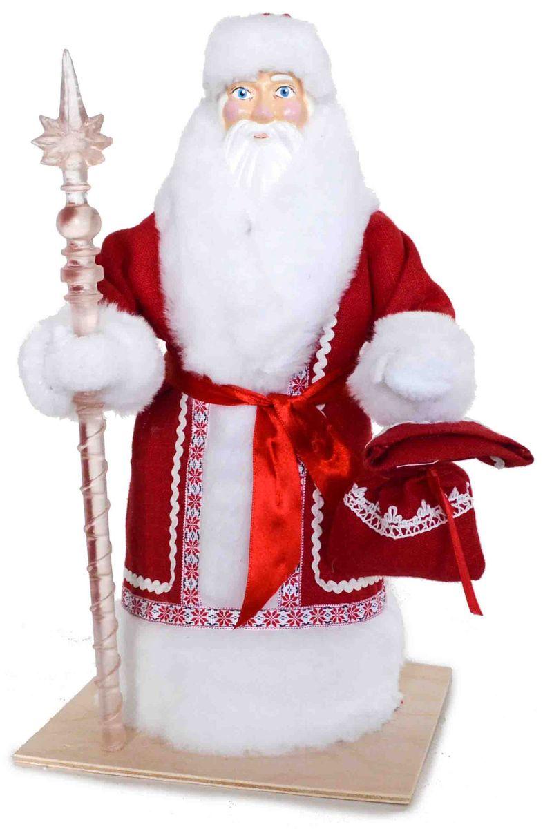 Кукла сувенирная Дед Мороз, цвет: красный, белый, 17 х 17 х 33 смК-1