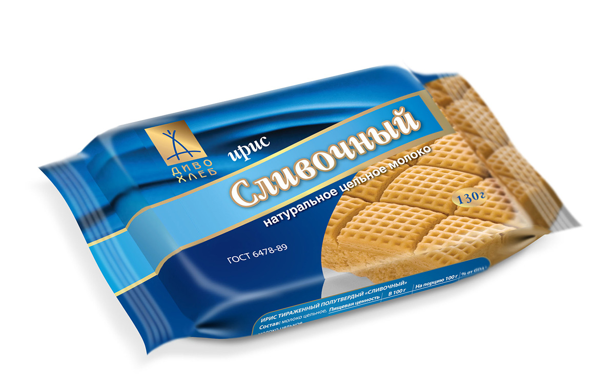 Диво-хлеб Сливочный ирис, 130 г