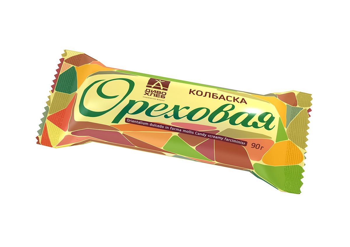 Диво-хлеб Колбаска Ореховая, 90 г