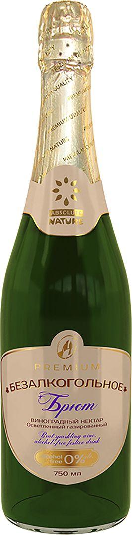 Absolute Nature Брют безалкогольное взрослое шампанское 0,75 л916301401Безалкогольное шампанское Absolute Nature - специализированный праздничный напиток, созданный по уникальной инновационной технологии из соков прямого отжима свежих ягод и фруктов, с добавлением натуральных растительных экстрактов: трав, цветов, кореньев и плодов.Безалкогольное шампанское Absolute Nature незаменимо в особо торжественных жизненных ситуациях, как современная альтернатива алкогольным напиткам.Создаёт атмосферу здорового праздника, истинного счастья и душевного единения.В составе свежеприготовленные настои и экстракты растений, известные своим тонизирующим воздействием и целебной силой, в том числе: Женьшень, Лимонник китайский, Родиола розовая, Шалфей и др.Их природная энергия биоактивных компонентов, богатых природными витаминами и минералами передают свою силу человеку. Создают, после употребления напитка, особый эффект радости и тепла.Массовая доля этилового спирта соответствует нормативам безалкогольных напитков - от 0,08 до 0,15% (меньше, чем у кефира).Светло-соломенного цвета, прозрачное, с живым блеском, легкой ажурной пеной и цепочкой пузырьков.Обладает впечатляющей свежестью и элегантным букетом ароматов и вкусов, с оттенками цветущего винограда и весенних цветов.Особым это вино делает его необычайный - кисловатый вкус, придающий ему игривый, деликатный, утонченный характер.