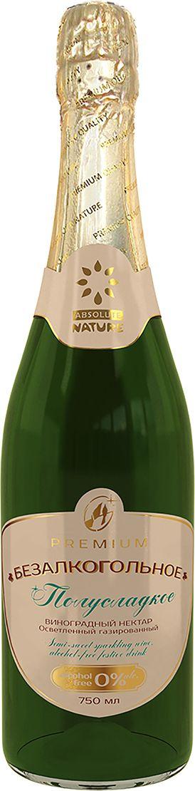 Absolute Nature Полусладкое, безалкогольное взрослое шампанское 0,75 л