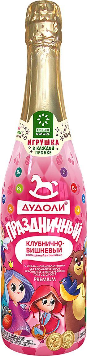 Absolute Nature Дудоли Праздничный клубнично-вишневый напиток сокосодержащий газированный 0,75 л макаронные изделия аго альянс лапша 500г