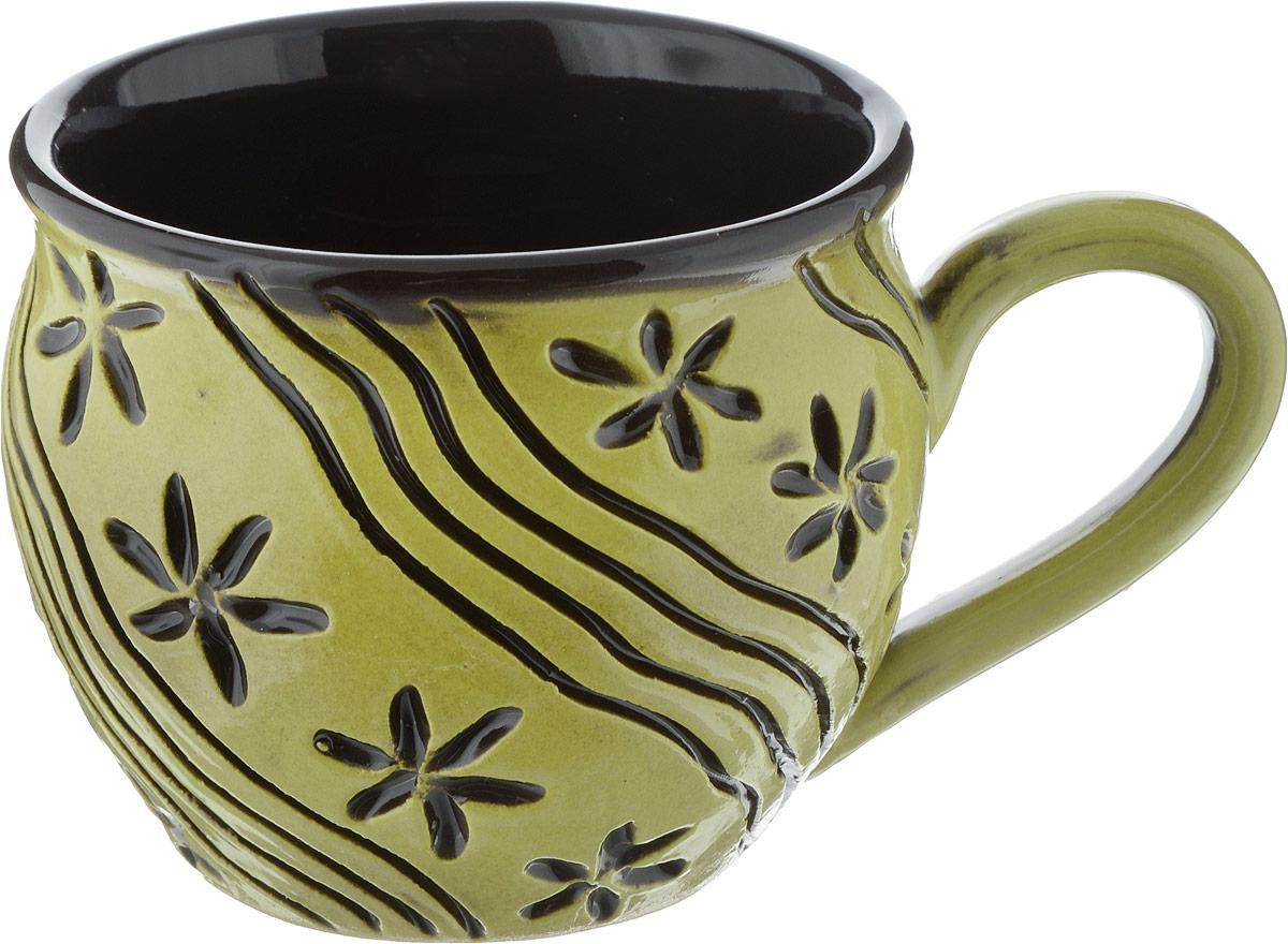 Чашка чайная Борисовская керамика Хэндмэйд, 300 млОБЧ00003214_дизайн 5Чашка чайная Борисовская керамика Хэндмэйд, 300 мл