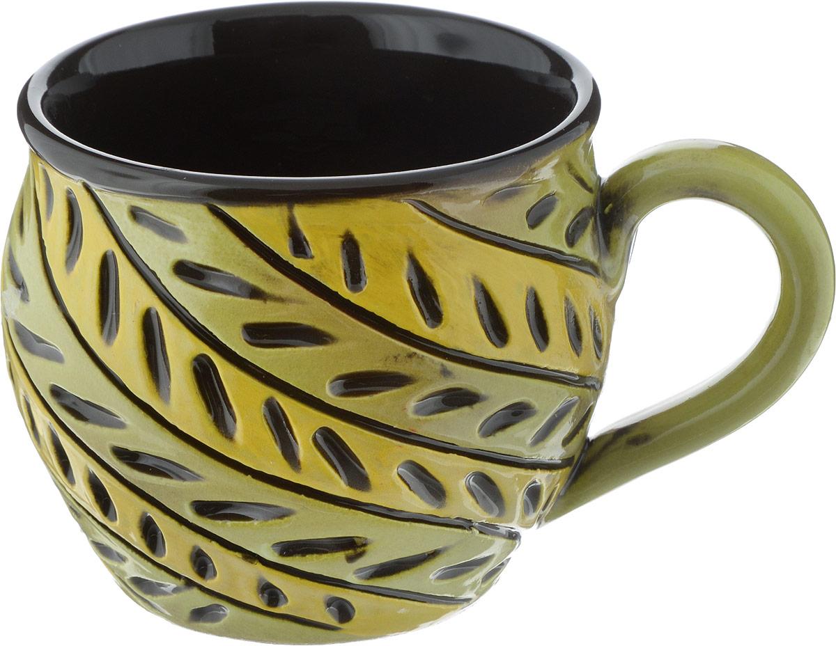 Чашка чайная Борисовская керамика Хэндмэйд, цвет: зеленый, желтый, 300 млОБЧ00003214Чашка Хэндмэйд ОБЧ00003214. Материал: Керамика. Объем: