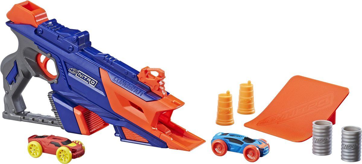 Nerf Машинка Лонгшот цвет синий, оранжевый машинки toystate машинка toystate