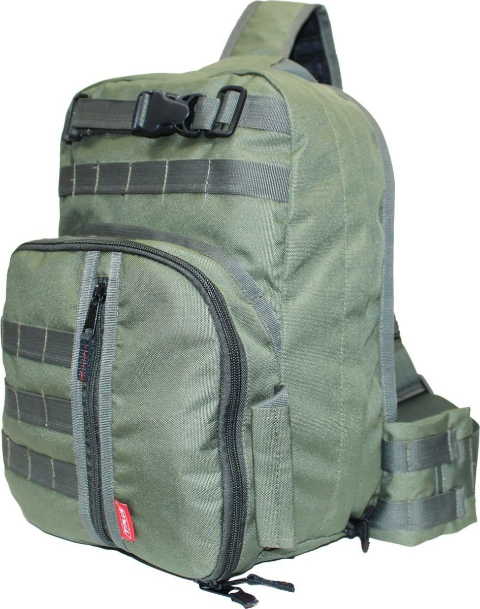 Рюкзак тактический Tplus 380, однолямочный, цвет: оливковыйT002177Одно-лямочная конструкция рюкзака позволяет класть и вынимать вещи без его снятия, для этого достаточно просто передвинуть его со спины на грудь. Тактический рюкзак — это идеальный вариант для выживальщиков и охотников. Рюкзак играет самую важную роль в любом походе, вы должны быть уверены в его надёжности и быть довольны его функциональностью. Несомненно, чтобы удовлетворить эти потребности, вам нужно обязательно приобрести тактический рюкзак.На что следует обратить внимание при выборе тактического рюкзака:- качество материала- функциональность- объем- непромокаемостьРюкзак двух объёмный. Высокопрочный материал с водоотталкивающей поверхностью. Точки наибольшего напряжения швов имеют двойную прошивку. Специальная система набивок, предохраняющая содержимое рюкзака от ударов. Универсальная система крепления подсумков MOLLE позволяет опционально навешивать дополнительные подсумки на рюкзак в соответствии с необходимостью. Оптимальное расположение карманов и отделений, позволяющее иметь быстрый доступ к оборудованию и вещам. В спинке сделан потайной карман для оружия или нетбука (планшета). Удобная загрузка. Рюкзак двух объёмный, в спинке сделан потайной карман для оружия или нетбука(планшета) длиной не более 370 мм.