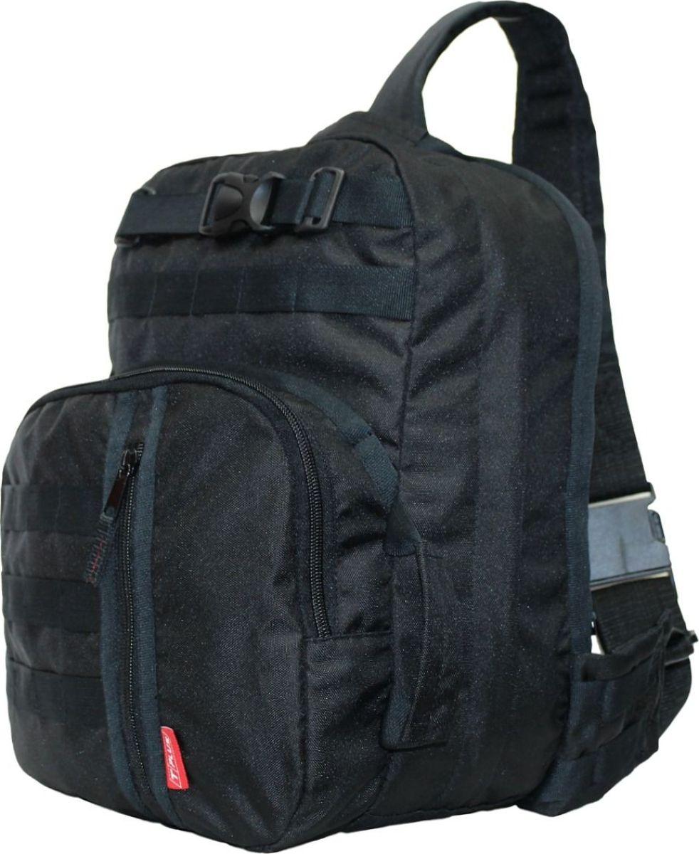 Рюкзак тактический Tplus 380, однолямочный, цвет: черныйT009453Одно-лямочная конструкция рюкзака позволяет класть и вынимать вещи без его снятия, для этого достаточно просто передвинуть его со спины на грудь. Тактический рюкзак — это идеальный вариант для выживальщиков и охотников. Рюкзак играет самую важную роль в любом походе, вы должны быть уверены в его надёжности и быть довольны его функциональностью. Несомненно, чтобы удовлетворить эти потребности, вам нужно обязательно приобрести тактический рюкзак.На что следует обратить внимание при выборе тактического рюкзака:- качество материала- функциональность- объем- непромокаемостьРюкзак двух объёмный. Высокопрочный материал с водоотталкивающей поверхностью. Точки наибольшего напряжения швов имеют двойную прошивку. Специальная система набивок, предохраняющая содержимое рюкзака от ударов. Универсальная система крепления подсумков MOLLE позволяет опционально навешивать дополнительные подсумки на рюкзак в соответствии с необходимостью. Оптимальное расположение карманов и отделений, позволяющее иметь быстрый доступ к оборудованию и вещам. В спинке сделан потайной карман для оружия или нетбука (планшета). Удобная загрузка. Рюкзак двух объёмный, в спинке сделан потайной карман для оружия или нетбука(планшета) длиной не более 370 мм.