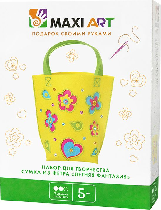 Maxi Art Набор для создания сумки из фетра Летняя фантазия, HK KYO ARTS & CRAFTS CO.,LTD