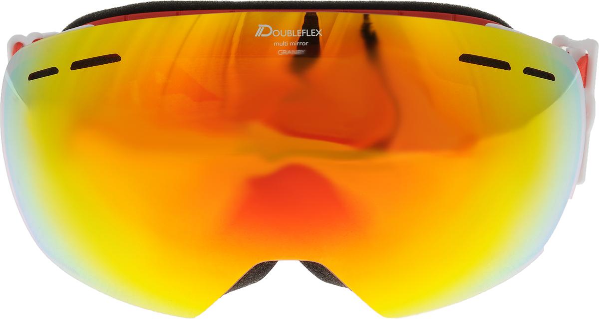 Очки горнолыжные Alpina Granby MM, цвет: черный, красный, белыйА7213852_красныйКомпактная горнолыжная маска с широким углом обзора, для применения в условиях переменной облачности и неяркого солнца. - 100% защита от УФ А-В-С до 400 нм- дизайн маски позволил радикально расширить поле зрения райдера без значительного увеличения размеров линзы- Сферическая линза дополнительно увеличивает поле зрения и исключает оптические искажения- Гибкая и комфортная оправа плотно и равномерно прилегает к лицу- Шарнирные направляющие для ремешка позволяют надёжно и комфортно зафиксировать маску на шлеме - Антифог покрытие снижает риск запотевания маски- На ремешок нанесены полоски из силикона, которые не дают ему скользить по шлему или шапке- По контуру оправы расположены вентиляционные порты- В линзе расположены дополнительные вентиляционные отверстия, которые улучшают циркуляцию воздуха и снижают риск запотевания маски- Размер: М50Что взять с собой на горнолыжную прогулку: рассказывают эксперты. Статья OZON Гид