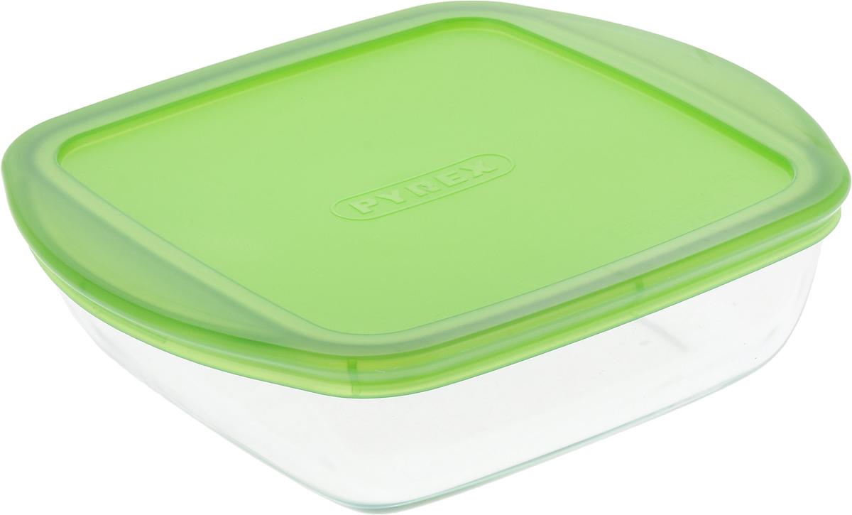 Форма для запекания Pyrex O Cuisine, квадратная, с крышкой, цвет: прозрачный, зеленый, 20 х 17 см400B000/7046Форма Pyrex O Cuisine изготовлена из прозрачного жаропрочногостекла. Непористая поверхность исключает образование бактерий, великолепномоется. Изделие идеально подходит дляприготовленияв духовом шкафу.Выдерживает перепад температур от -40°C до +300°C. Форма Pyrex O Cuisine подходит для использования вмикроволновой печи, приготовления блюд вдуховке, хранения пищи в холодильнике. Можно мыть в посудомоечной машине.