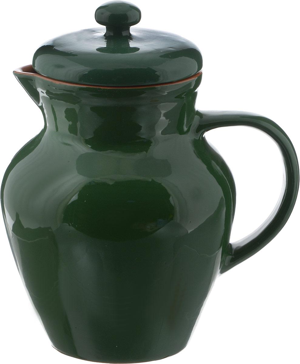 Кувшин Борисовская керамика Радуга, цвет: зеленыйРАД00000448_зеленый