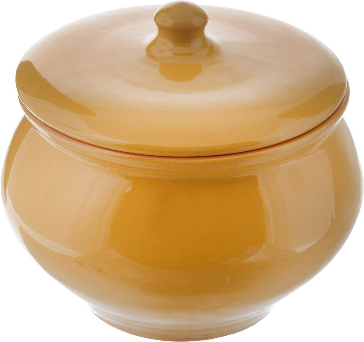 Горшочек для запекания Борисовская керамика Радуга, цвет: желтый, 1,3 лРАД00000336_желтый