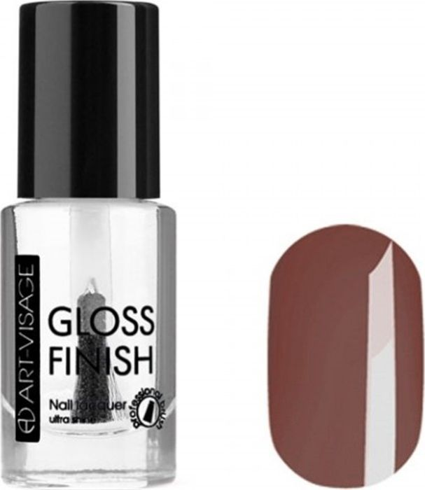 Art-Visage Лак для ногтей Gloss Finish nail lacquer, тон 114, 8,5 мл042775Новейшая гелевая текстура лака обеспечивает плотное нанесение, высокую стойкость, а также длительный мокрый эффект цвета на ваших ногтях! Красивый глянцевый цвет после первого нанесения. Безупречные ногти минимум 4 дня. Без формальдегида и толуола.