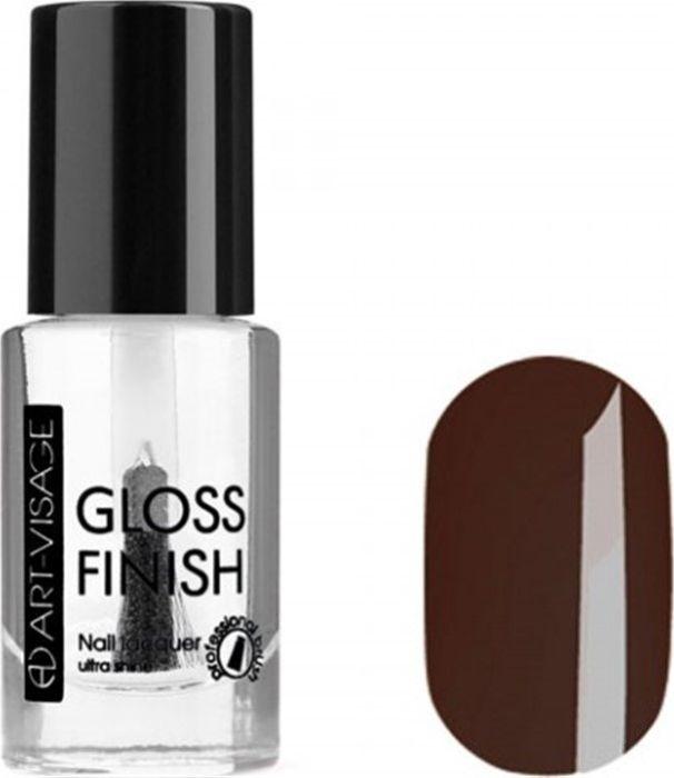 Art-Visage Лак для ногтей Gloss Finish nail lacquer, тон 115, 8,5 мл042799Новейшая гелевая текстура лака обеспечивает плотное нанесение, высокую стойкость, а также длительный мокрый эффект цвета на ваших ногтях! Красивый глянцевый цвет после первого нанесения. Безупречные ногти минимум 4 дня. Без формальдегида и толуола.