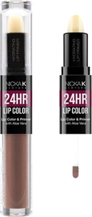 Nicka K NY 24HR Lip Color губная помада, 1,5 мл, оттенок LIGHT TAUPE017502Богатый цвет в сочетании с увлажняющим праймером, обеспечивающим длительный матовый эффект. Праймер для губ подготавливает губы, продлевает стойкость макияжа, улучшает внешний вид последующего мэйкапа, делает цвет более чистым и насыщенным. Цветовая гамма губных помад предлагает множество сочных оттенков под любой вид повседневной одежды, которая будет дополнять и выделять любое настроение, в котором вы находитесь.