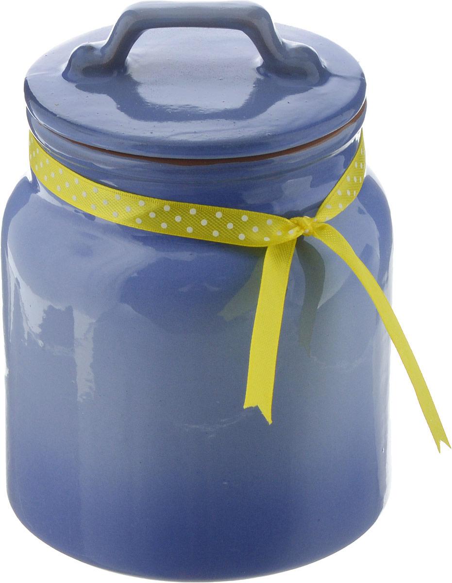 Банка для сыпучих продуктов Борисовская керамика Ретро, сиреневый, 1 л банка для сыпучих продуктов 1 2л 1224083