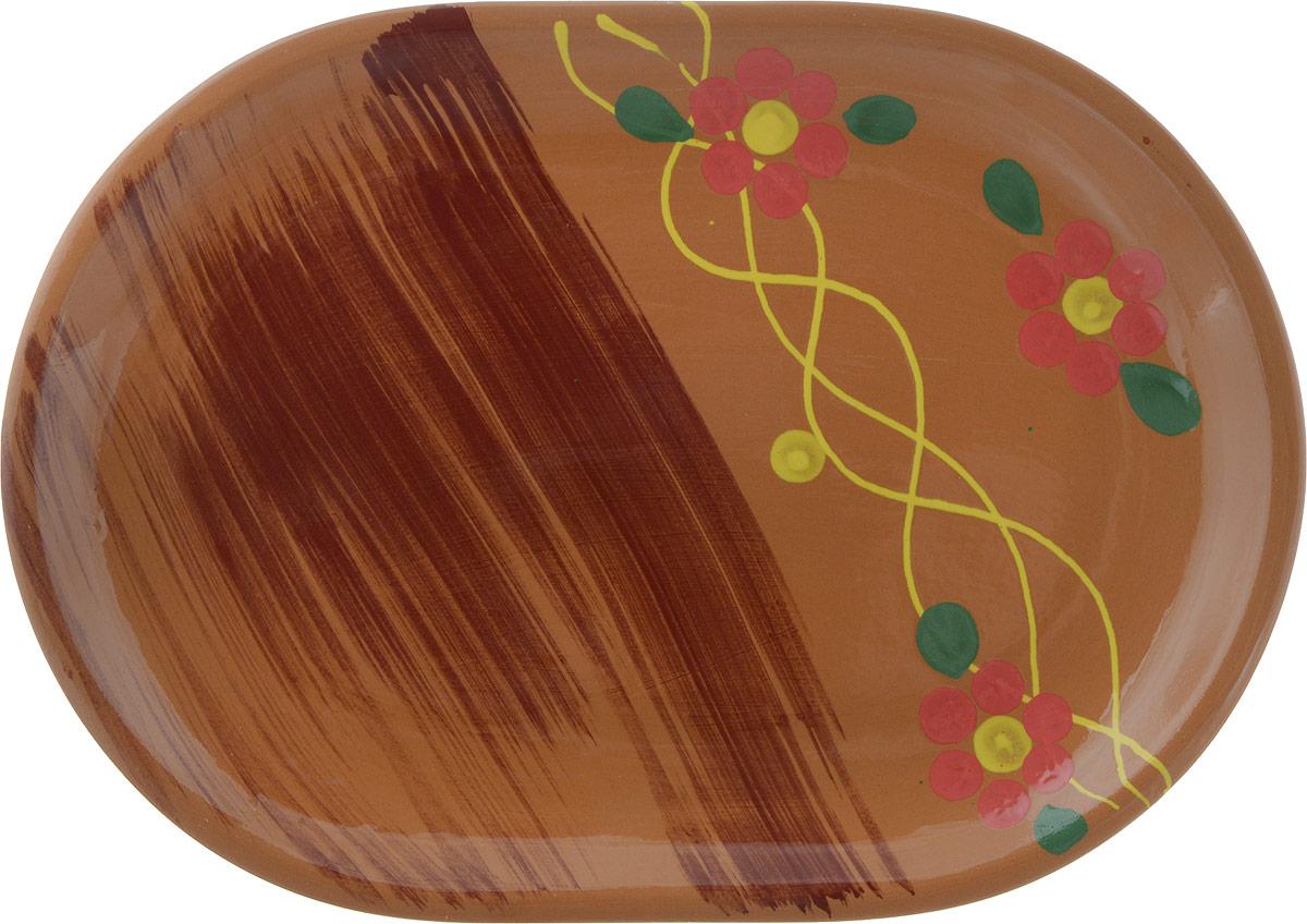 Блюдо Борисовская керамика Стандарт, цвет: светло-коричневыйОБЧ14457900_светло-коричневый