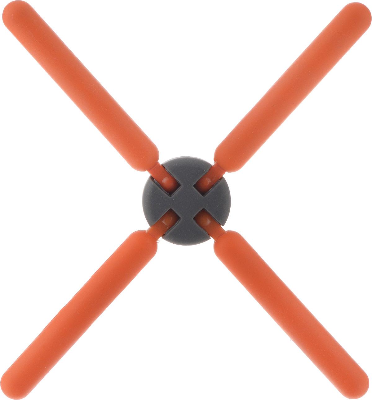 Подставка под горячее Mayer & Boch, цвет: оранжевый, 22 см. 21939-321939-3Подставка под горячее Mayer & Boch изготовлена из термостойкого силикона. Имеет красивый дизайн, яркие цвета.Подставка оформлена в виде 4 палочек, соединенных в середине.Складная. Занимает мало места.Раскладывается на 4 стороны.
