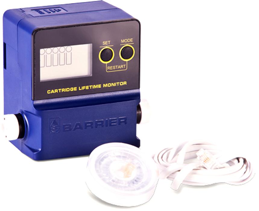 Индикатор ресурса проточных фильтров Барьер4601032992927Предназначен для определения времени замены сменных картриджей проточных фильтров для воды, имеющих от одной до 5-ти ступеней очистки. Подходит для проточных фильтров любых производителей.