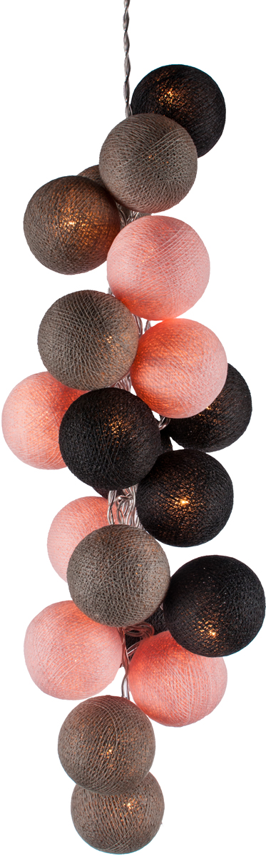 Гирлянда электрическая Гирляндус Сакура, из ниток, LED, 220В, 36 ламп, 5 м4670025844819Нежная гирлянда ручной работы. Каждый шарик сделан вручную из ниток и клея, светится приятным мягким светом. Шарики хрупкие, но даже если вы их помнёте, их всегда можно выправить. Инструкция прилагается.