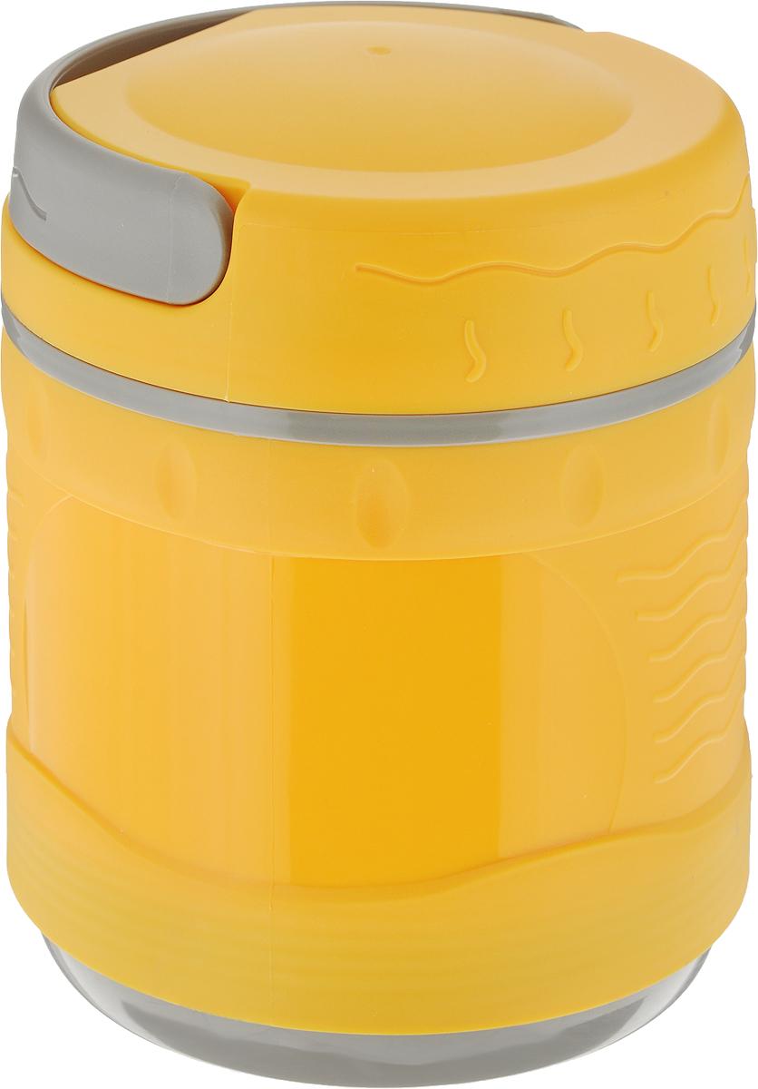 Термос-контейнер Diolex DXС-1200-2, цвет: желтый, 1,2 лFJ750SP-BSТермос-контейнер DXС-1200 с корпусом из пластика и колбой из нержавеющей стали предназначен для хранения горячих первых и вторых блюд. Сохраняет напитки и продукты горячими на 12 часов или холодными на 24 часа. Термос имеет удобную ручку для переноски.В комплект входят чашка и ложка из пластика.