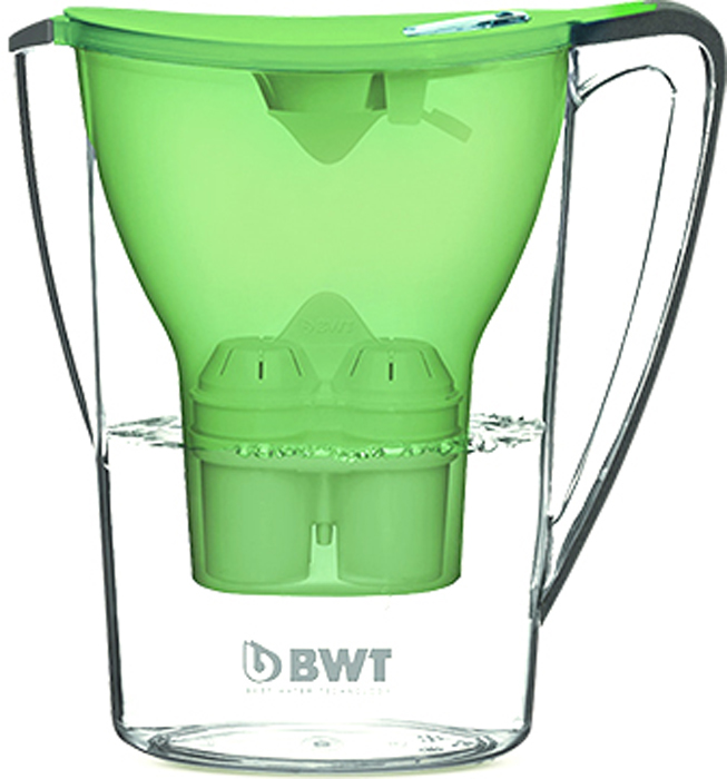 Фильтр-кувшин для доочистки воды BWT Пингвин, цвет: зеленый чай, 2,7 л9022001903297Настольный инновационный фильтр-кувшин с запатентованной функцией обогащения воды магнием BWT Пингвин имеет яркий, современный и стильный вид. Его привлекательный дизайн в сочетании с превосходными эргономическими свойствами отражает современную школу скандинавского дизайна, а благодаря яркому цвету он займет центральное место на любой кухне.Особенности:- Современный дизайн, разработан итальянскими дизайнерами и художниками.- Европейское качество кувшина. - Емкость кувшина 2,7 л, воронки - 1,5 л.- Система Easy–Fill - возможность наполнять кувшин, не снимая крышки.- Автоматическое открывание и закрывание крышки при наполнении водой.- Конструкция кувшина защищает от попадания пыли и неочищенной воды в отфильтрованную воду. - Уникальная конструкция воронки позволяет наливать воду, не дожидаясь окончания фильтрации.- Прочный и удобный носик на кувшине.- Easy-Control - современный индикатор ресурса – одновременно считает количество заполнений кувшина и количество дней с начала использования. Гарантия своевременной индикации срока замены картриджа при любой активности использования. Батареи хватает на 3,5 года.- Удобная прочная ручка. - Возможность размещения в двери холодильника. - В комплекте кассета BWT Magnesium Mineralizer - единственная кассета европейского качества с запатентованной функцией обогащения воды магнием. Ежедневное потребление магния крайне важно для организма человека.