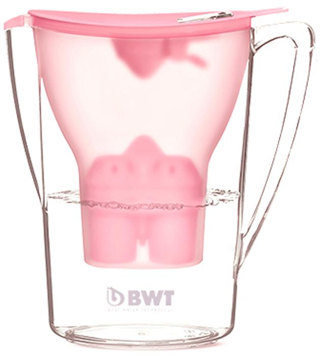 Фильтр-кувшин для доочистки воды BWT Пингвин, цвет: розовый пунш, 2,7 л9022001903327Настольный инновационный фильтр-кувшин с запатентованной функцией обогащения воды магнием BWT Пингвин имеет яркий, современный и стильный вид. Его привлекательный дизайн в сочетании с превосходными эргономическими свойствами отражает современную школу скандинавского дизайна, а благодаря яркому цвету он займет центральное место на любой кухне.Особенности:- Современный дизайн, разработан итальянскими дизайнерами и художниками.- Европейское качество кувшина. - Емкость кувшина 2,7 л, воронки - 1,5 л.- Система Easy–Fill - возможность наполнять кувшин, не снимая крышки.- Автоматическое открывание и закрывание крышки при наполнении водой.- Конструкция кувшина защищает от попадания пыли и неочищенной воды в отфильтрованную воду. - Уникальная конструкция воронки позволяет наливать воду, не дожидаясь окончания фильтрации.- Прочный и удобный носик на кувшине.- Easy-Control - современный индикатор ресурса – одновременно считает количество заполнений кувшина и количество дней с начала использования. Гарантия своевременной индикации срока замены картриджа при любой активности использования. Батареи хватает на 3,5 года.- Удобная прочная ручка. - Возможность размещения в двери холодильника. - В комплекте кассета BWT Magnesium Mineralizer - единственная кассета европейского качества с запатентованной функцией обогащения воды магнием. Ежедневное потребление магния крайне важно для организма человека.