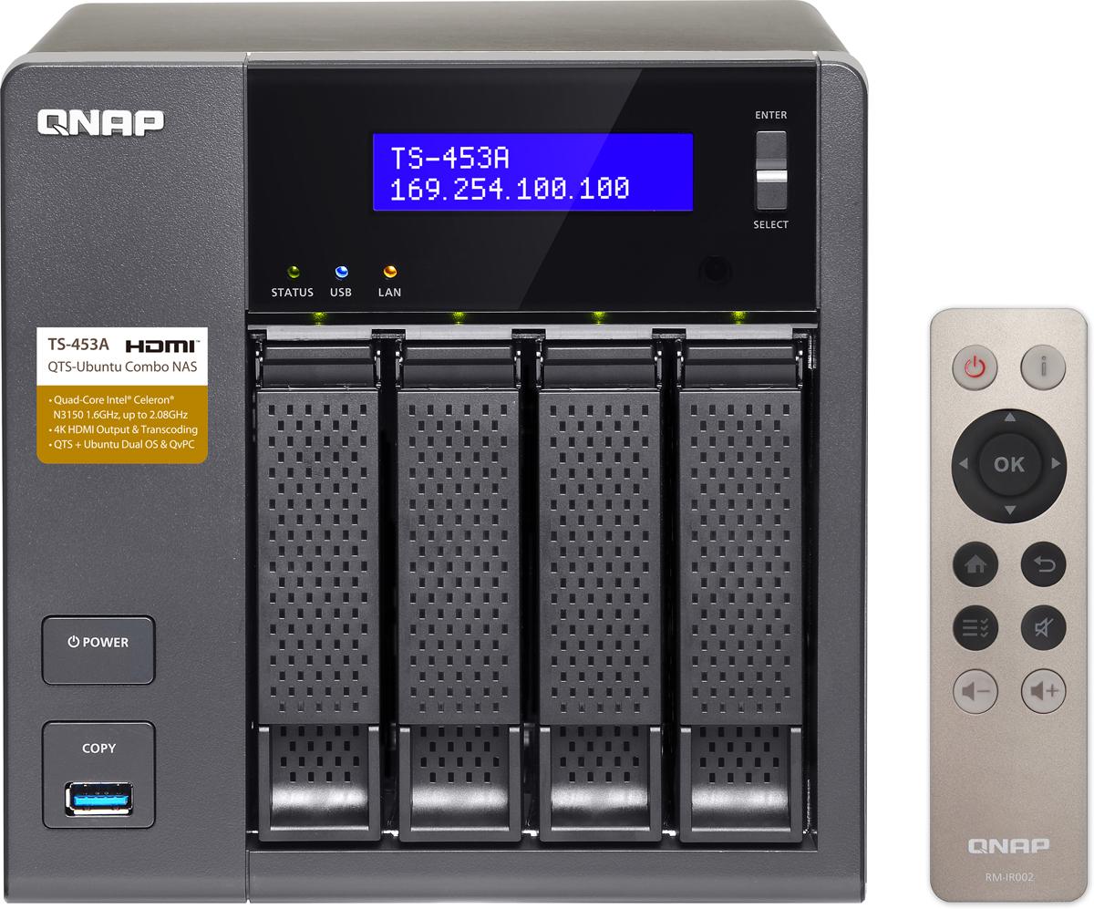 все цены на QNAP TS-453A-4G 32 Тб сетевое хранилище онлайн