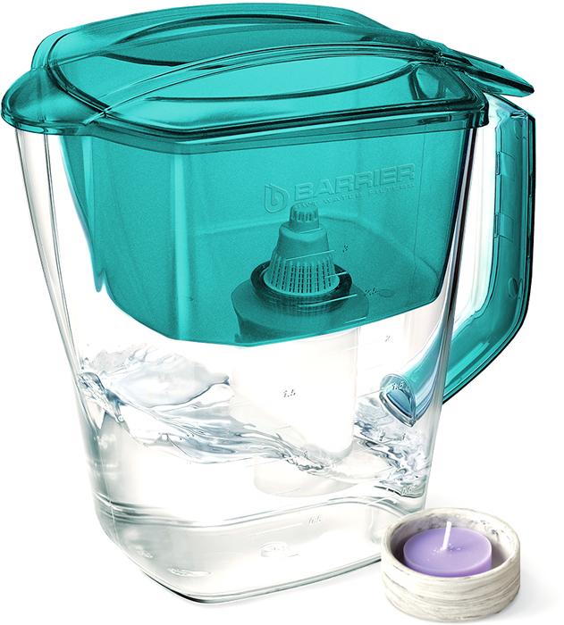 Фильтр-кувшин для очистки воды Барьер Гранд Нео, жемчужно-бирюзовый4601032994945Классический кувшин по доступной цене