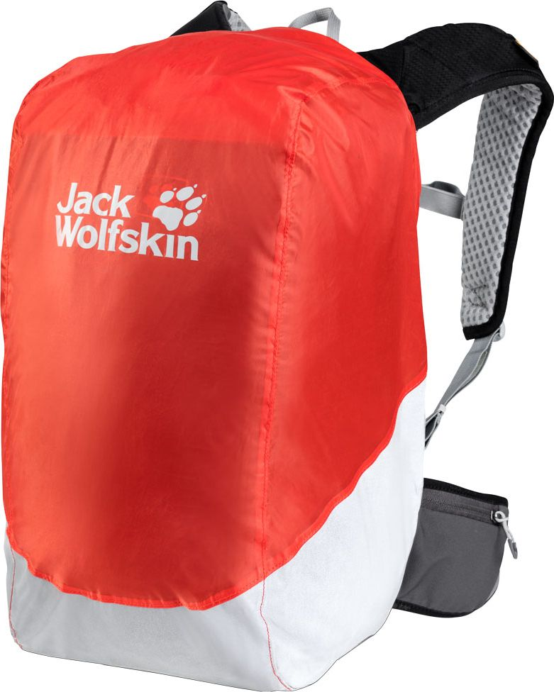 Чехол для рюкзака Jack Wolfskin Raincover Safety 20-30L, от дождя, цвет: оранжевый, 20-30 л. 8002751-30268002751-3026Водонепроницаемый чехол RAINCOVER SAFETY (РЭЙНКАВЕР СЭЙФТИ) сделает вас более заметным в пешем или велосипедном походе и сохранит ваши вещи в сухости в хмурую ненастную погоду. Крупная вставка в нижней части чехла отражает свет от фар автомобилей, делая вас заметным для водителей, когда вы наклоняетесь вперед на своем велосипеде. Чехол не мешает регулировать подвесную систему рюкзака. Поэтому вам будет удобно нести рюкзак даже в дождь.