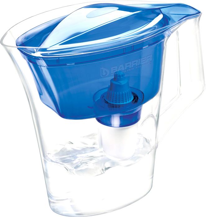 Фильтр-кувшин для очистки воды Барьер Нова, цвет: синий4601032994761Настольный фильтр-кувшин для очистки воды Барьер Нова изготовлен из безопасных материалов, рекомендованных для контакта с питьевой водой.Особенности:- Удобная цельнолитая ручка. - Эргономичный дизайн крышки кувшина. - Защита от попадания загрязнений в отфильтрованную воду. Конструкция воронки защищает от попадания пыли в отфильтрованную воду.- Надежное резьбовое крепление кассеты к воронке кувшина исключает попадание неочищенной воды из воронки в отфильтрованную воду.- В комплект входит кассета Лайт.